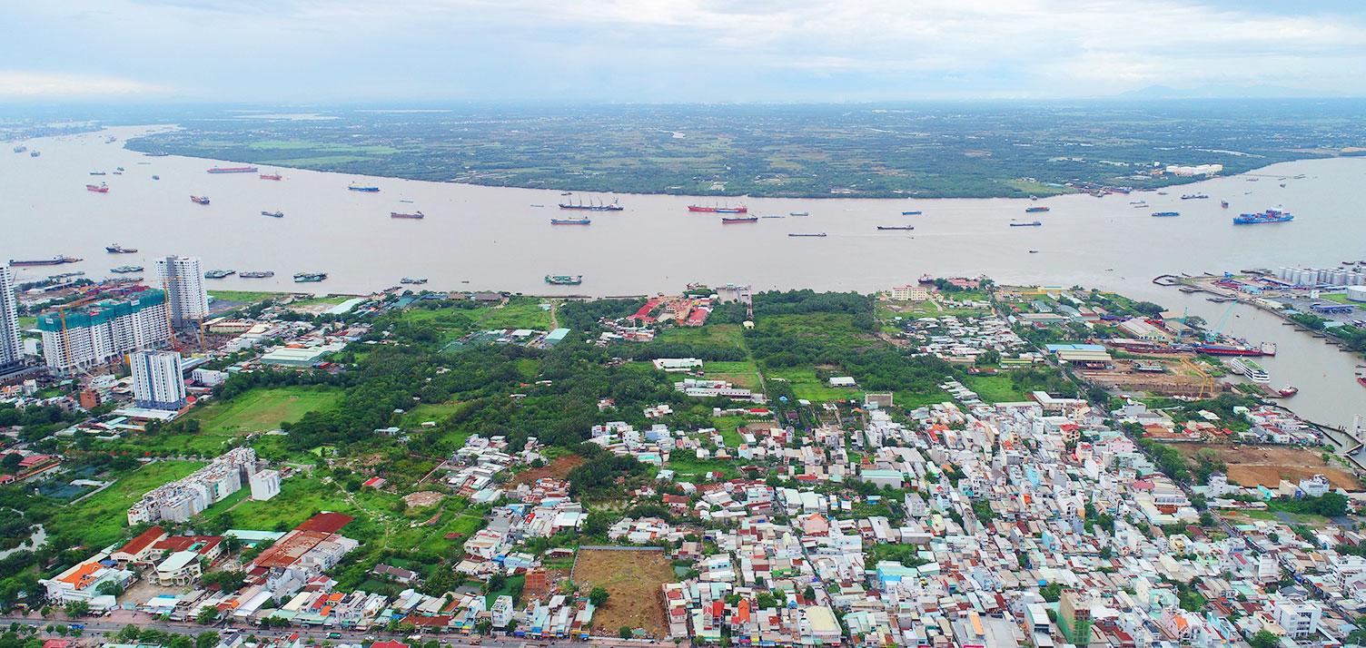 Hướng nhìn về sông Sài Gòn