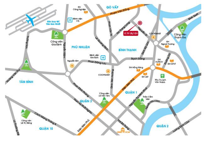 Saigonres Nguyễn Xí vị trí