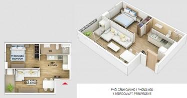 Thông tin căn hộ Cityland Gò Vấp 1 phòng ngủ