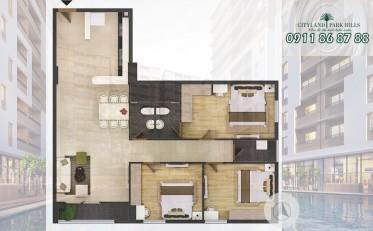 Căn hộ 3PN Park Hills P3-3.11 lầu thấp giá gốc chủ đầu tư Cityland